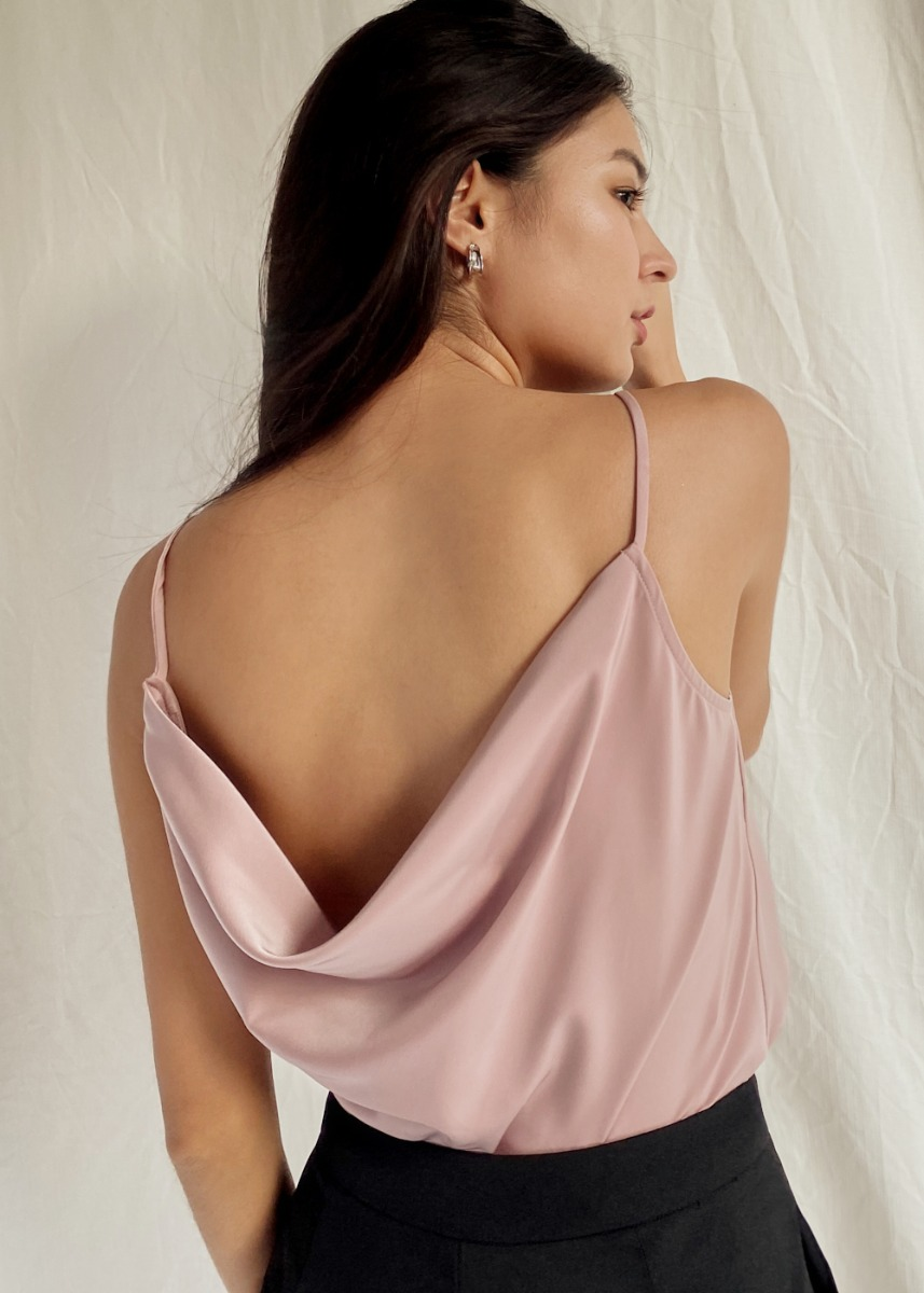 Aliya Drape Back Camisole Top