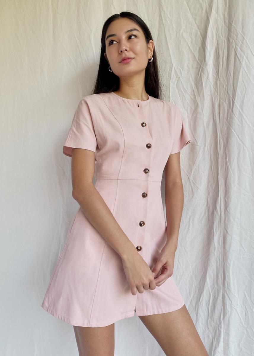 Corinne Button Down Dress