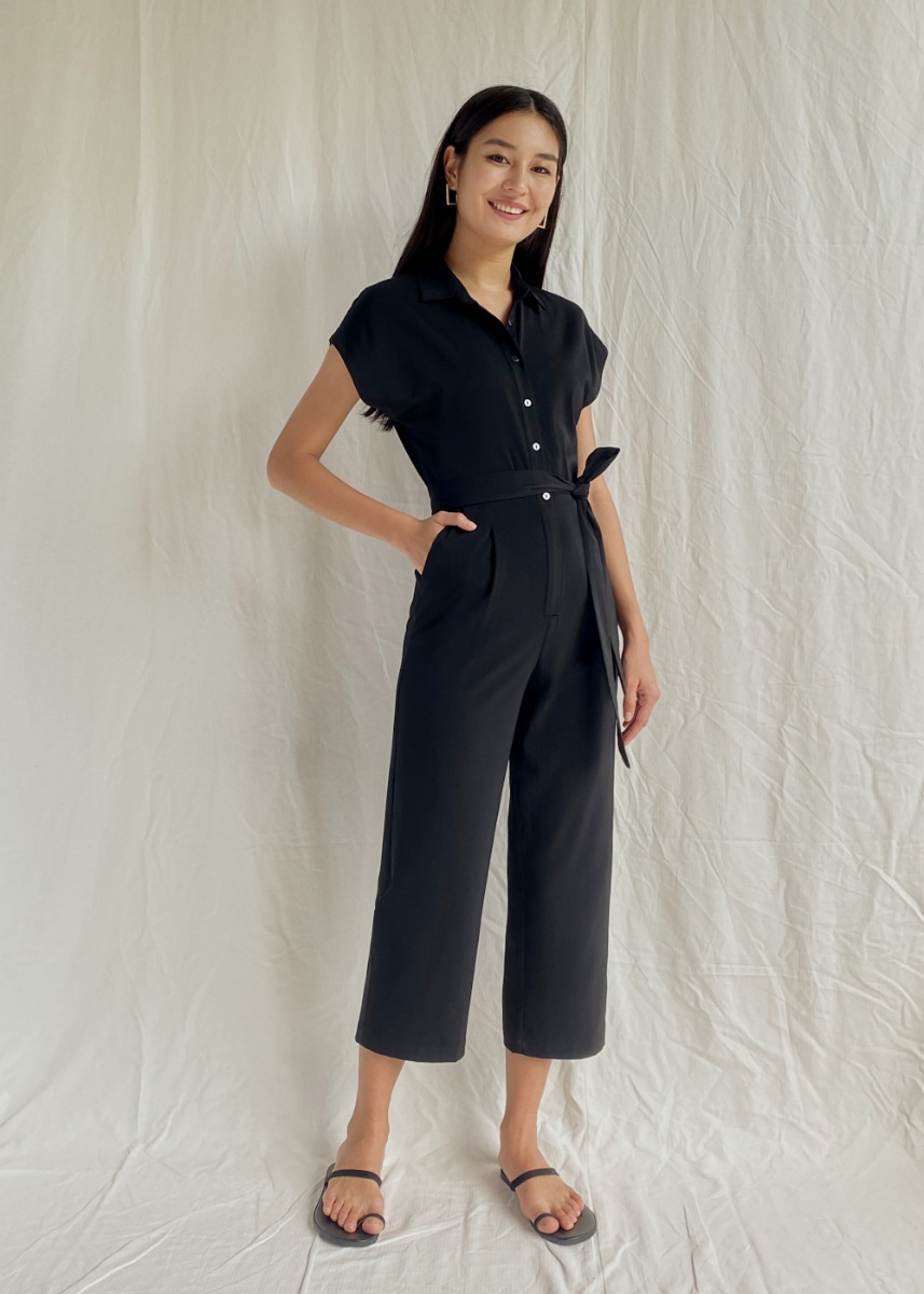 Katherine Belted Button Down Jumpsuit