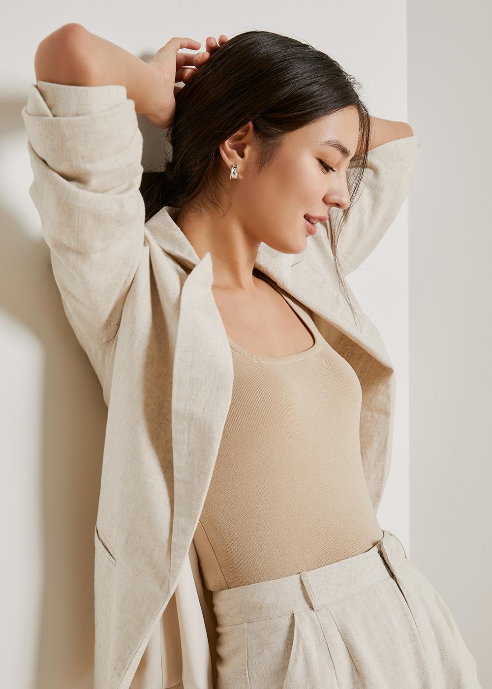Charli Relaxed Linen Blazer