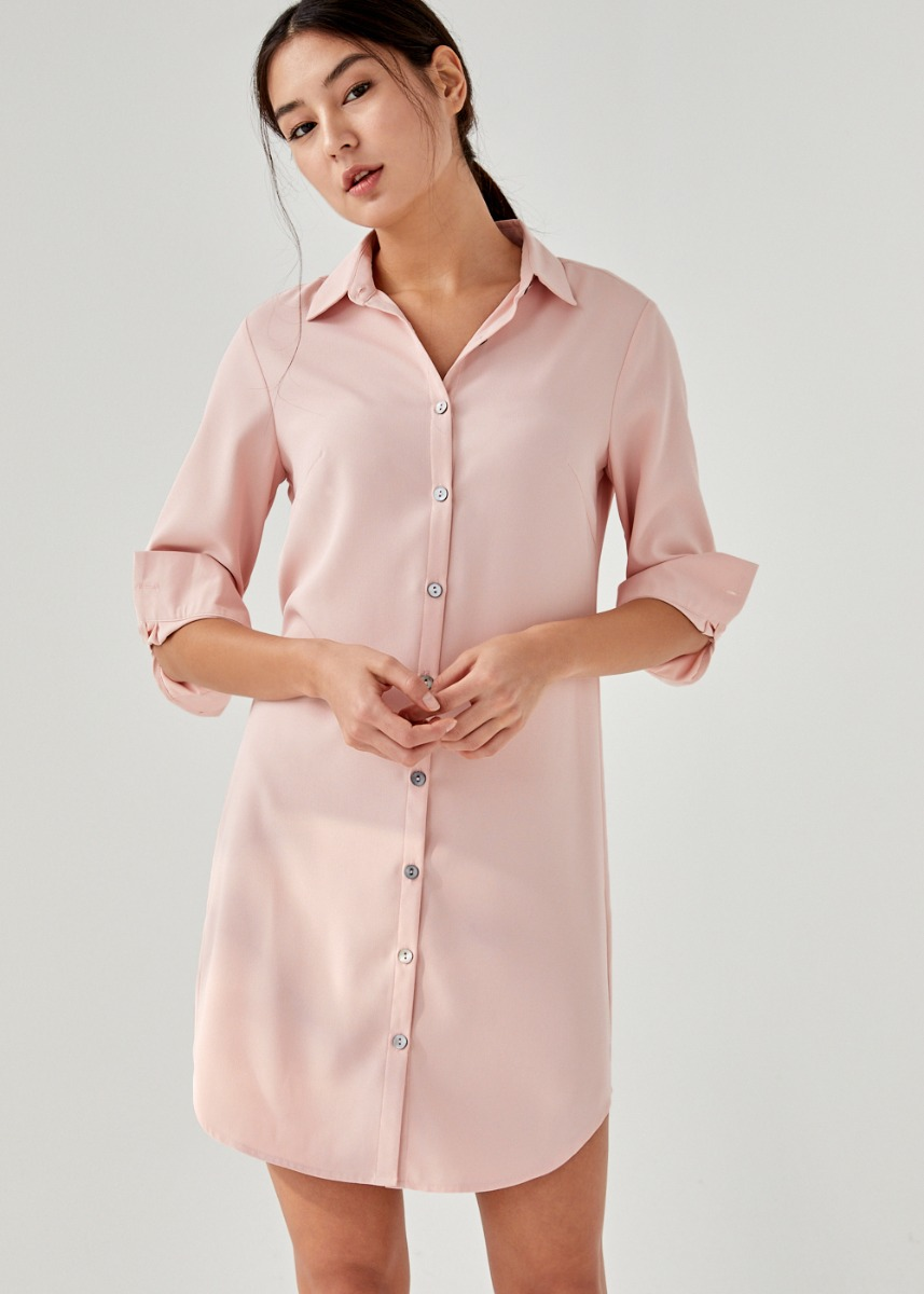 Galen Cuffed Shirt Dress