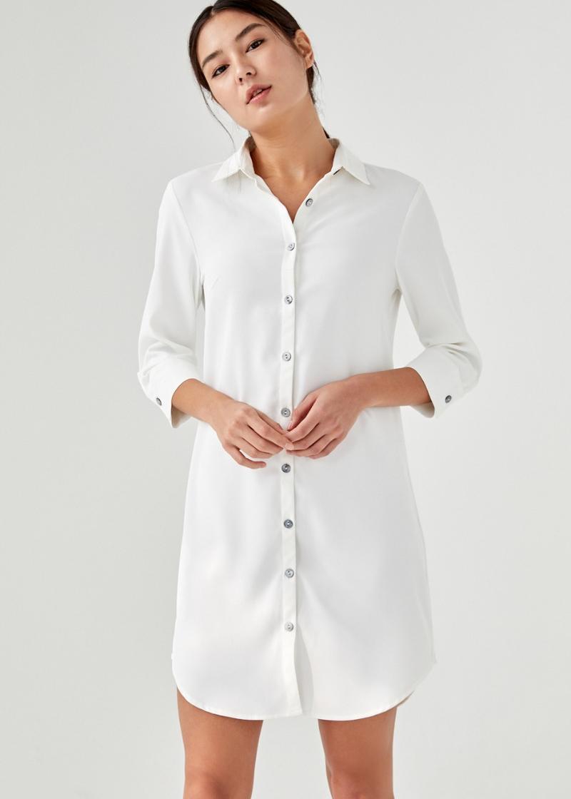 Galen Cuffed Shirt Dress