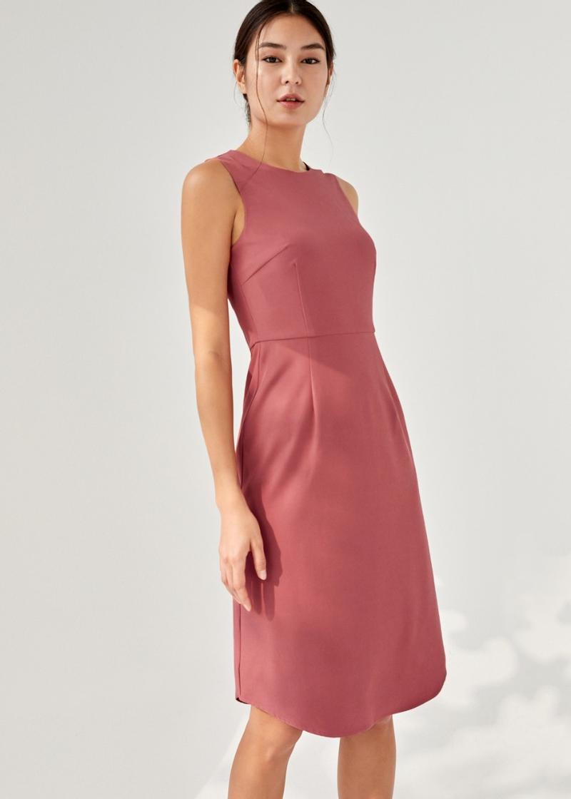 Alessi Curved Hem Midi Dress