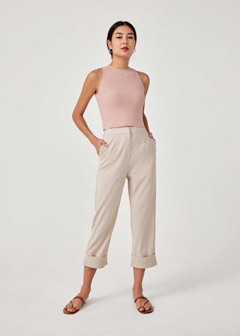 Zamia Crop Knit Top