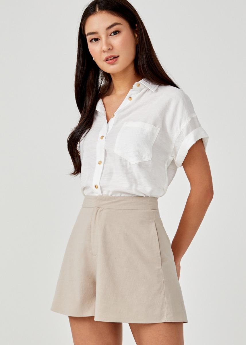 Rumer Tailored Linen Shorts