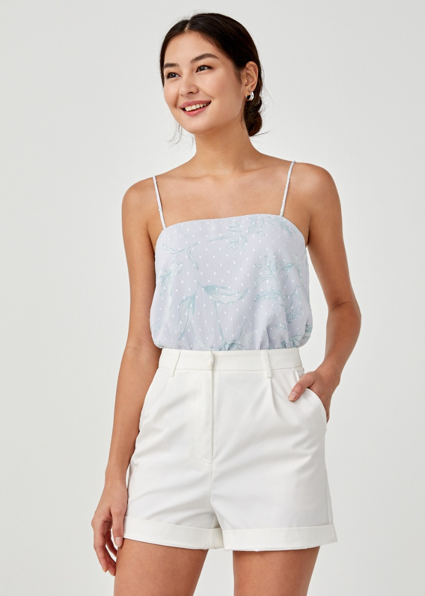 Helia Camisole Top in Floral Flutter