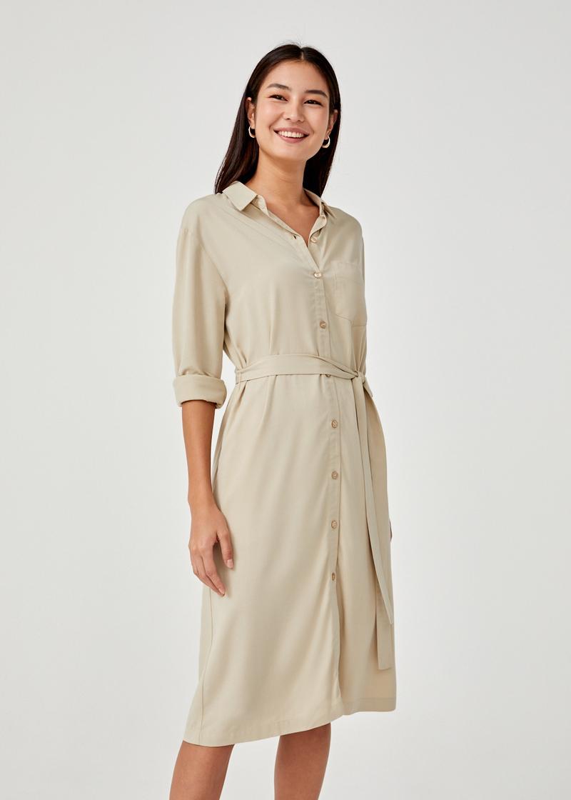 Nesrin Relaxed Midi Shirt Dress