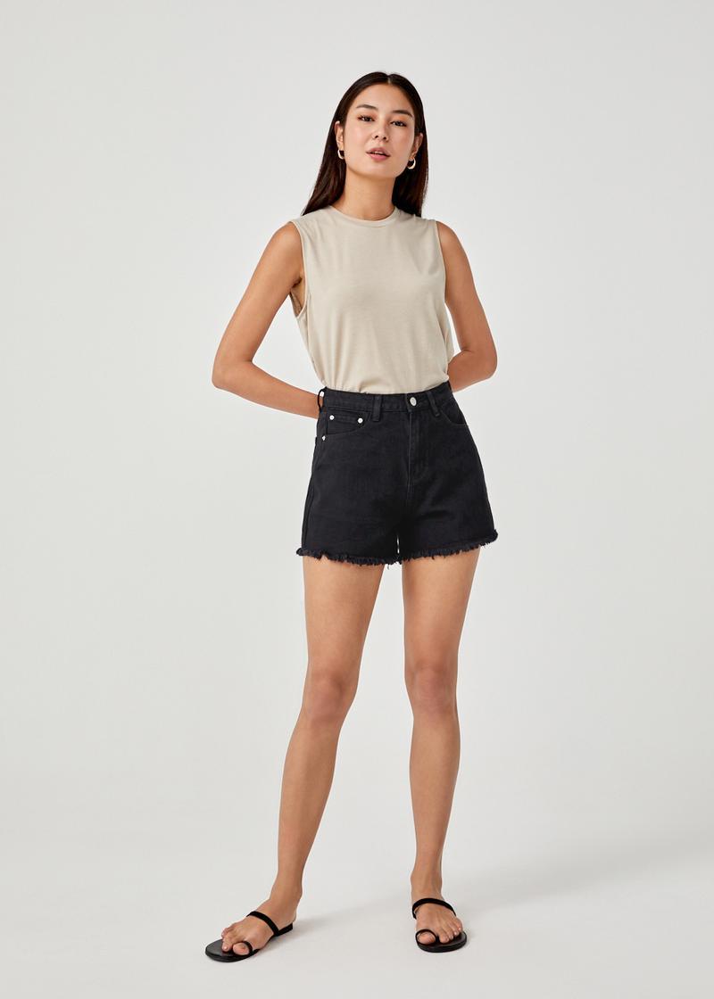 Blair Fringe Hem Denim Shorts