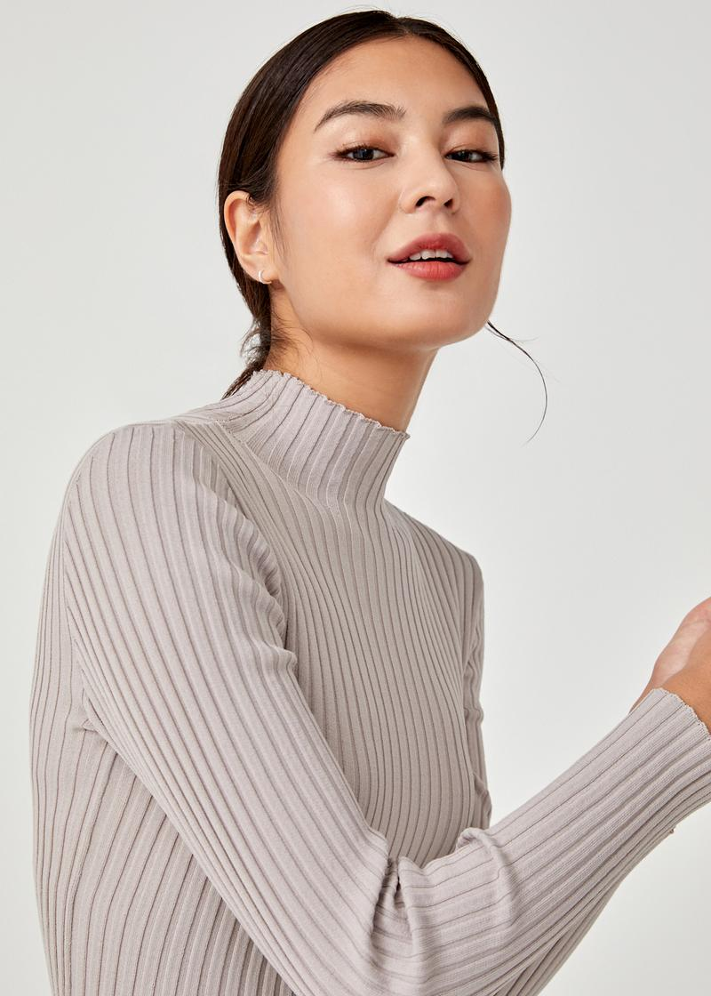Clemento High Neck Knit Top