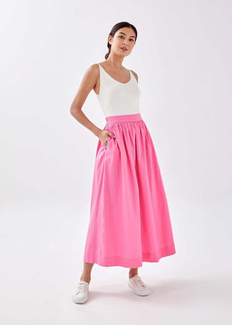 Maevee Elastic Maxi Skirt