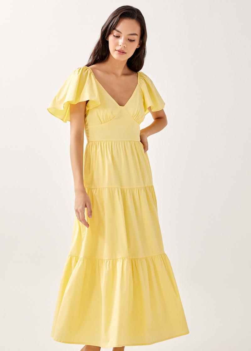 Jayke Ruffle Tiered Midaxi Dress