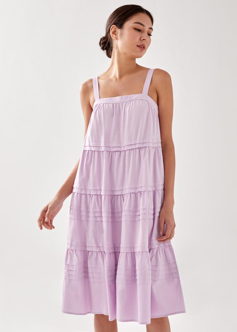 Peyton Tiered Camisole Midi Dress