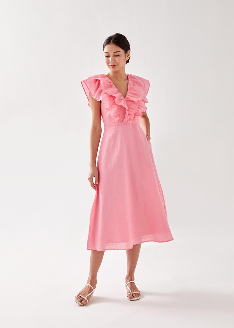 Melodia Ruffle Midi Dress