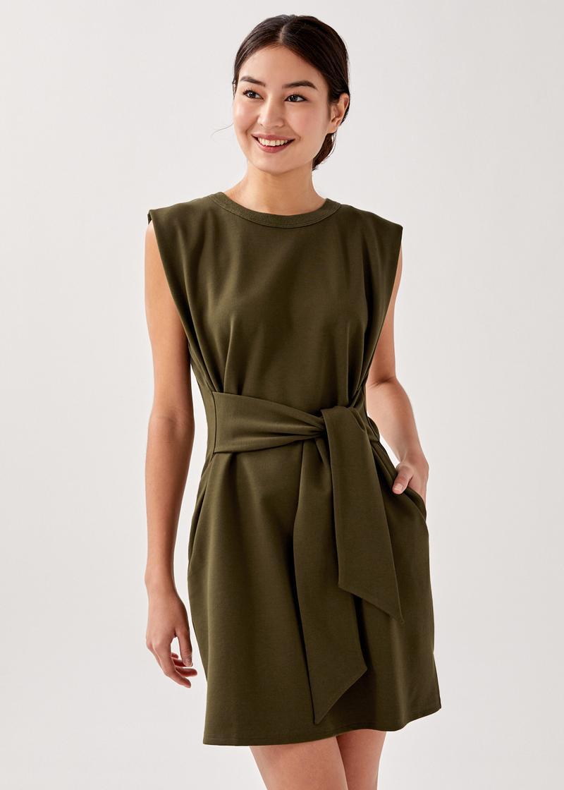 Sidra Belted Jersey Dress