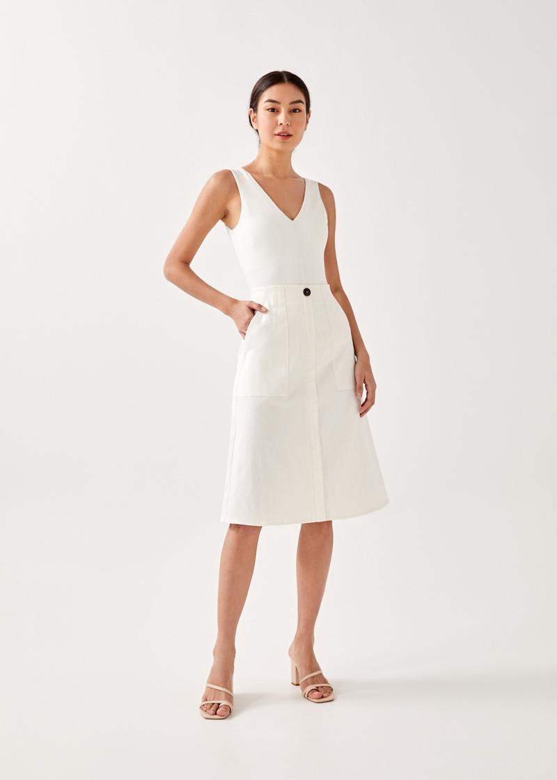 Sofina Patch Pocket Midi Skirt