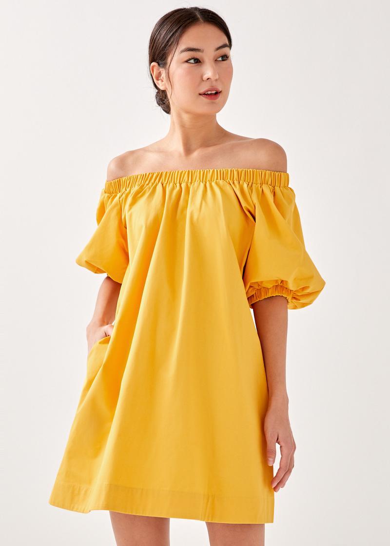 Sema Off Shoulder Puff Sleeve Dress