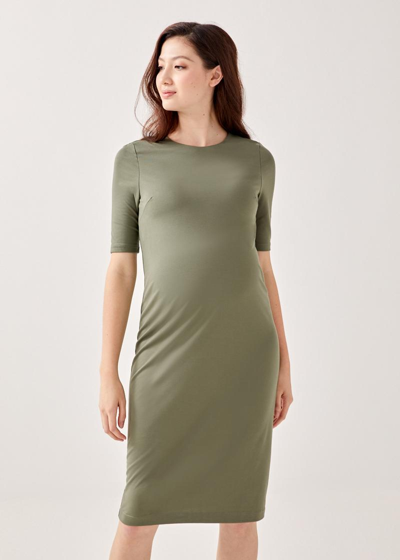 Tealia Shelf-Bra Jersey Midi Dress