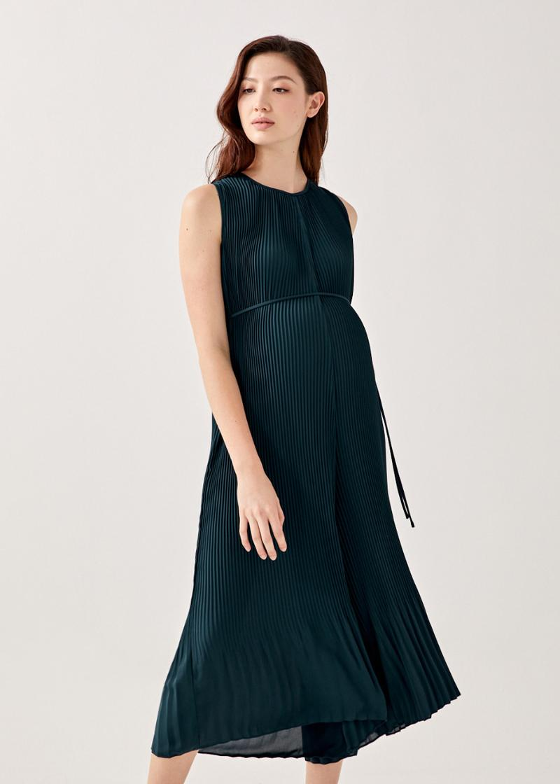 Madelyn Relaxed Pleated Midaxi Jumpsuit