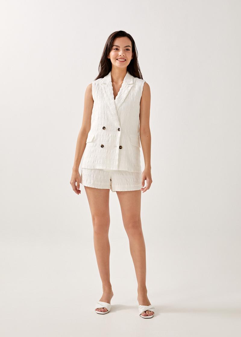 Alexisa Crinkled Tailored Vest