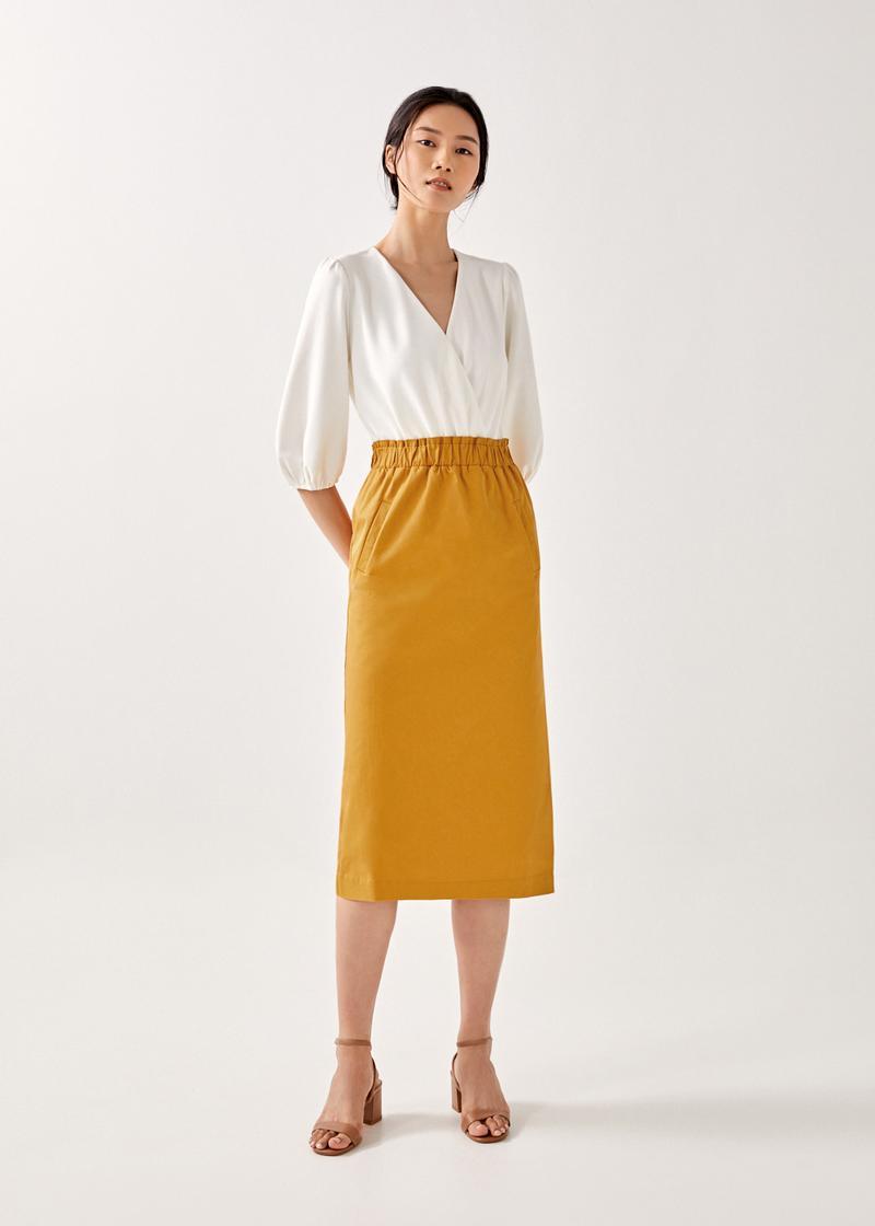 Sylveia Elastic Pencil Skirt
