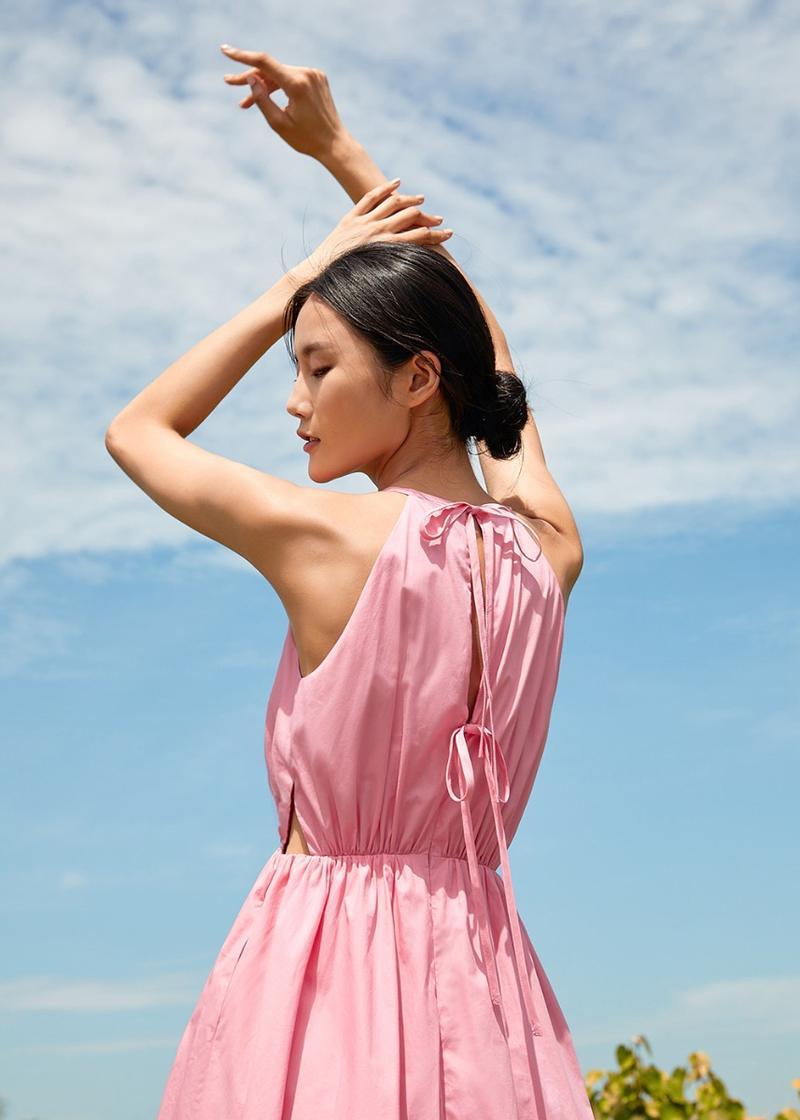 Tatianna Tie Back Midi Dress