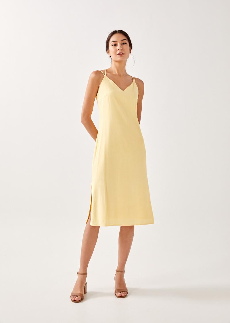 Nadia Strappy Low Back Midi Dress