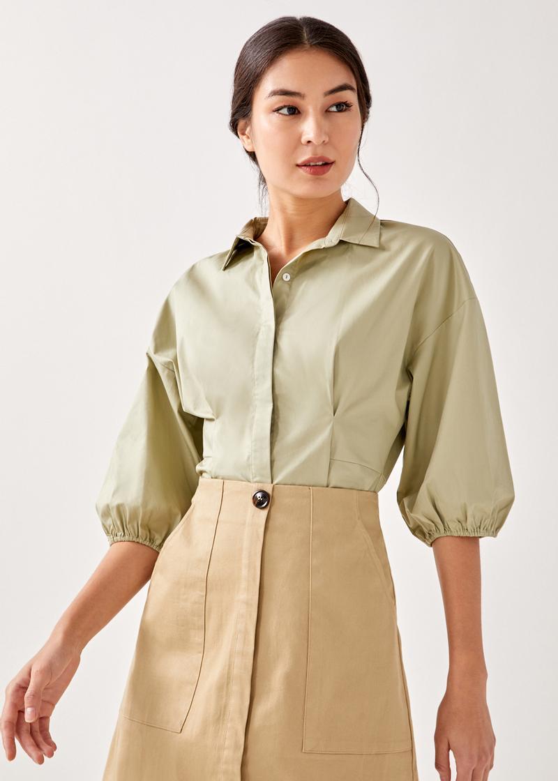 Julietta Tailored Puff Sleeve Shirt