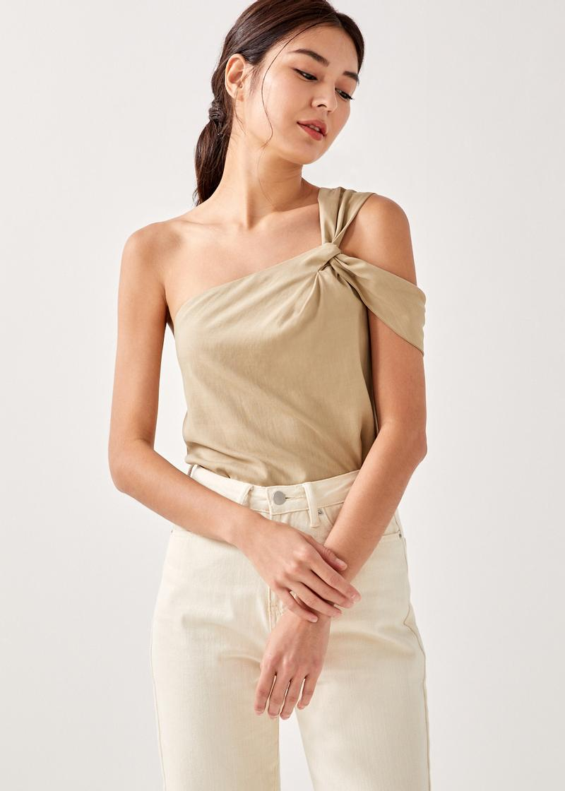 Anike Asymmetrical Knotted Top