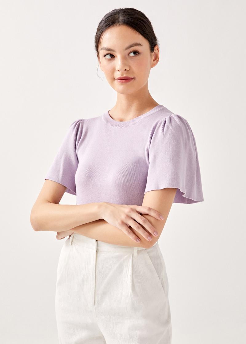 Hiara Flutter Sleeve Top