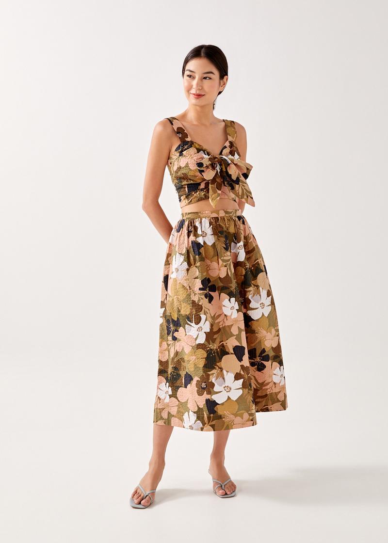Tiara Textured Midaxi Skirt