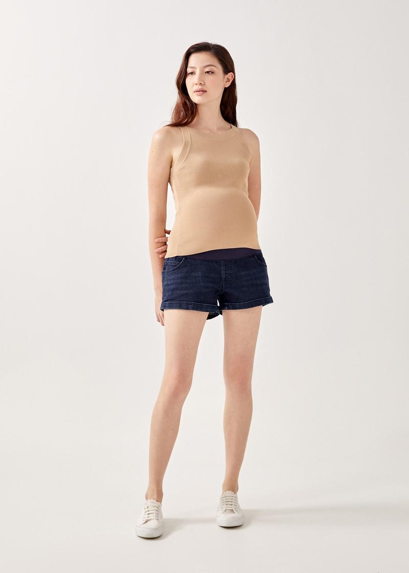 Ovie Elastic Denim Shorts