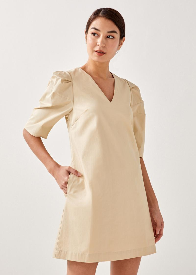 Jordia Puff Sleeve Shift Dress