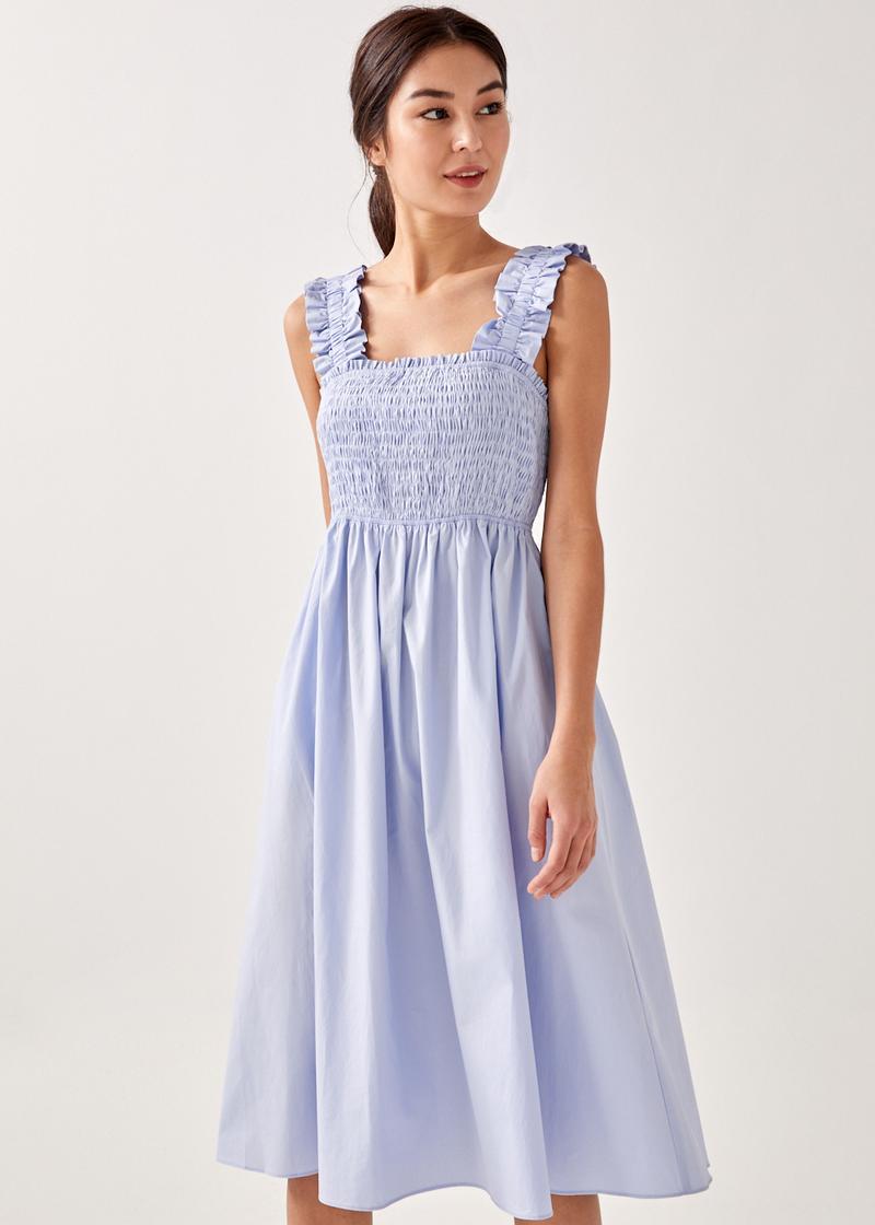 Alyss Smocked Camisole Midi Dress