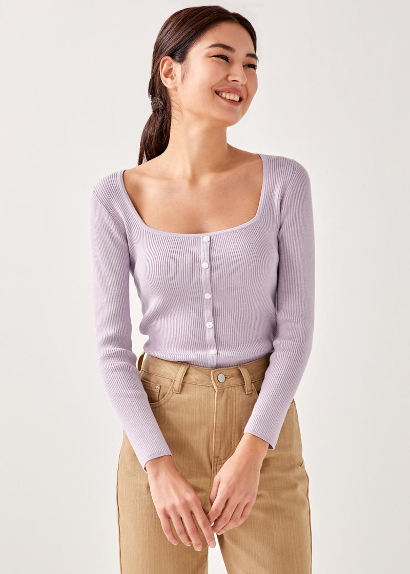Margaret Button Down Knit Top