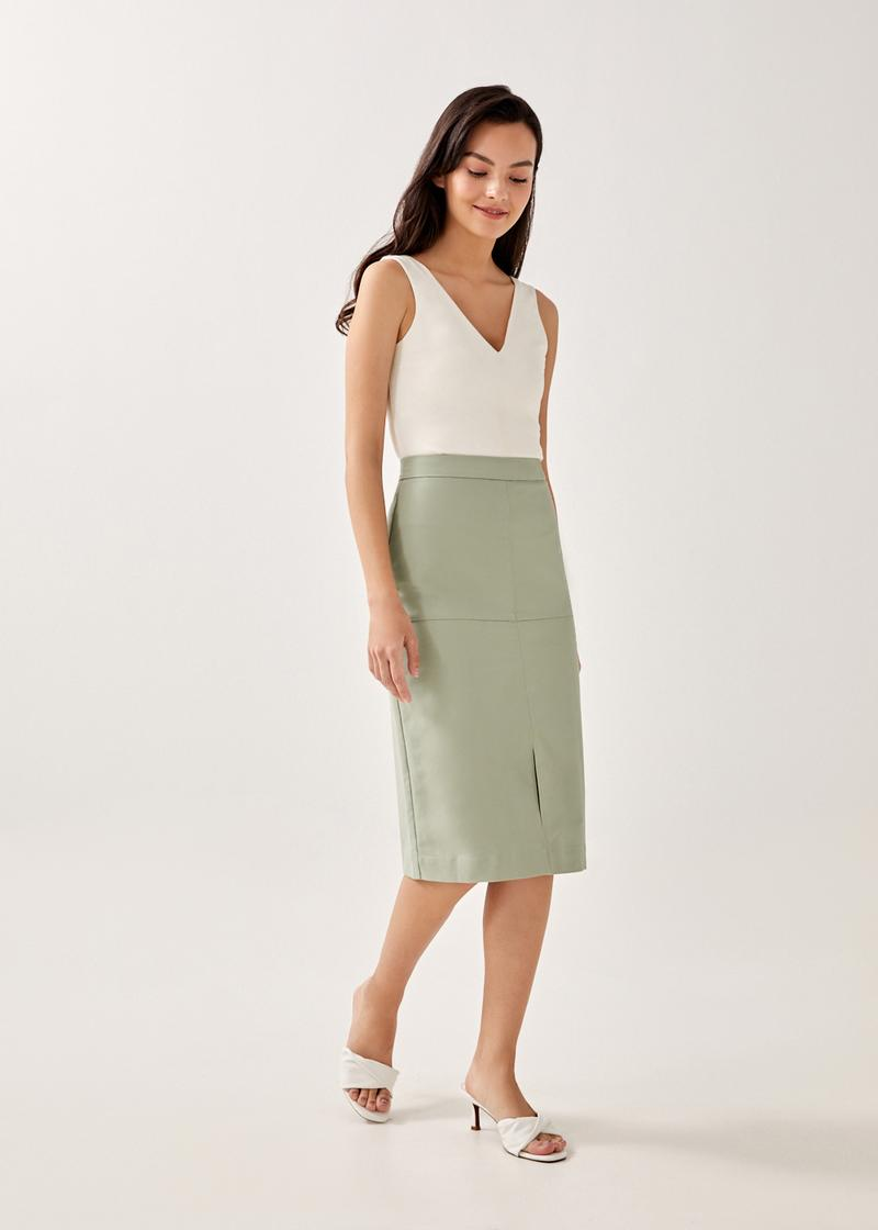 Wylie Panelled Pencil Skirt