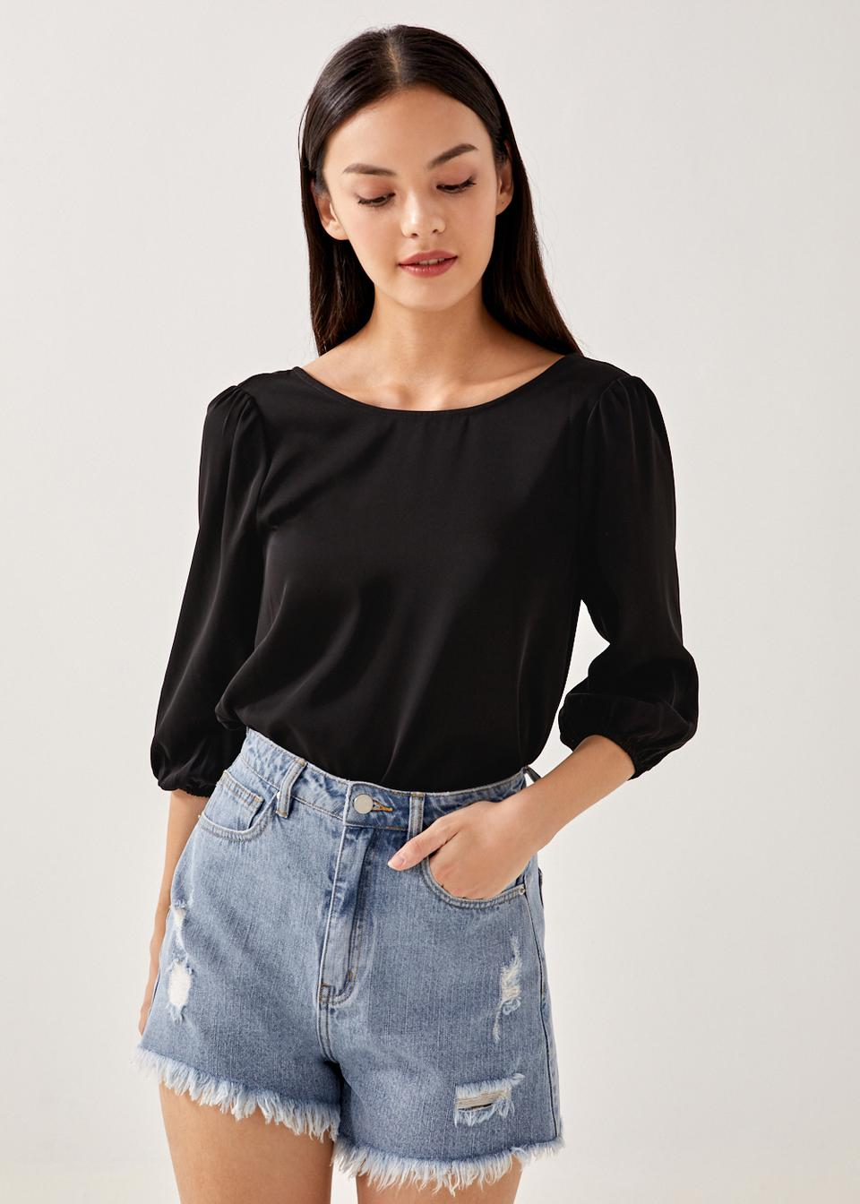 Garie Low Back Relaxed Blouse
