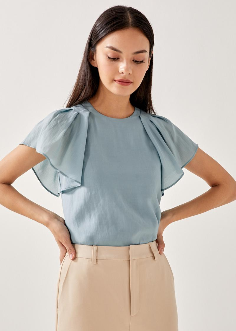 Edie Flutter Sleeve Shell Top
