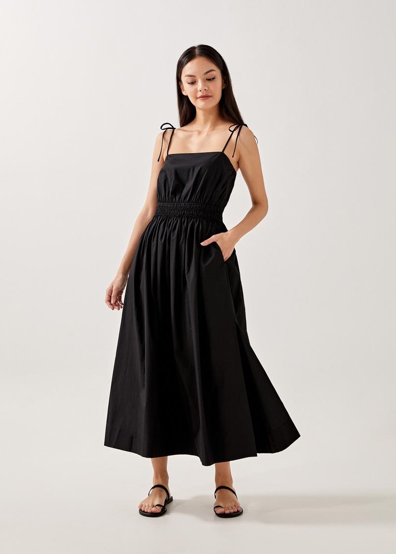 Charlise Elastic Waist Tie Back Dress