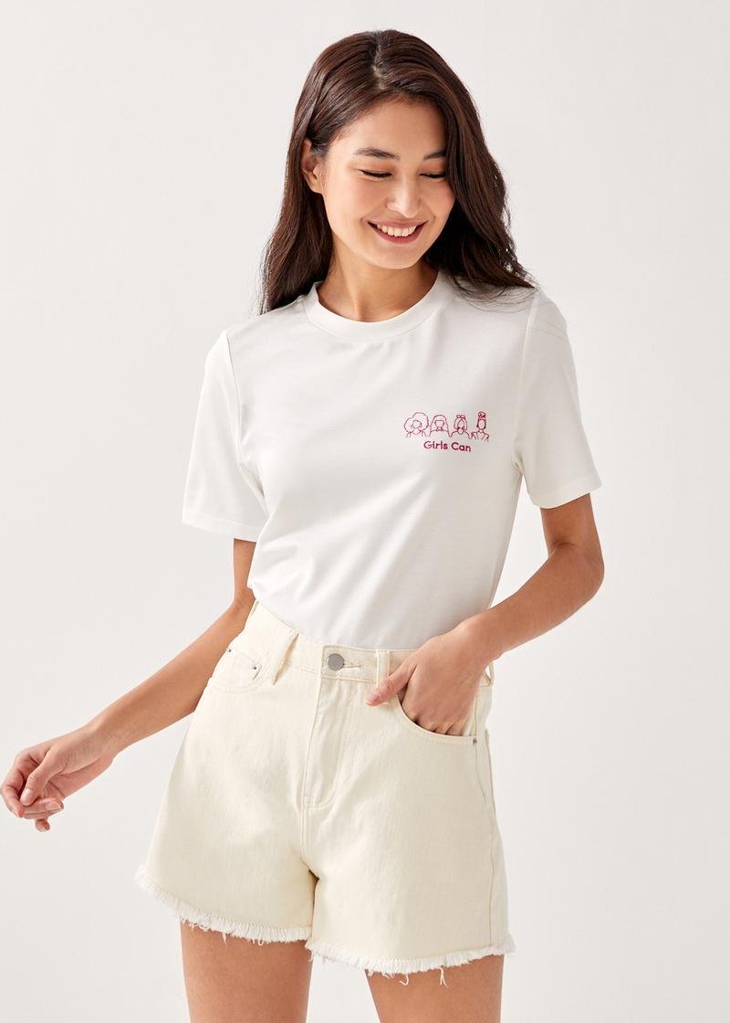 "Love, Bonito x Barbie® ""Girls Can"" T-shirt"