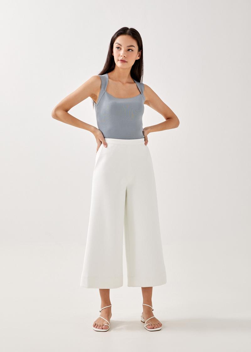 Arie Neoprene Wide Leg Culottes