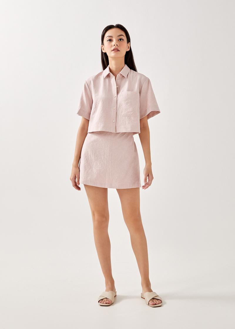 Adella Gingham Boxy Shirt