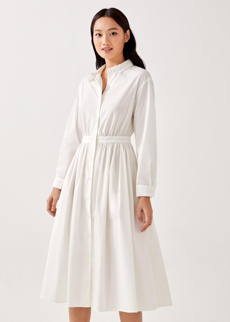 Odele Button Down Shirt Dress