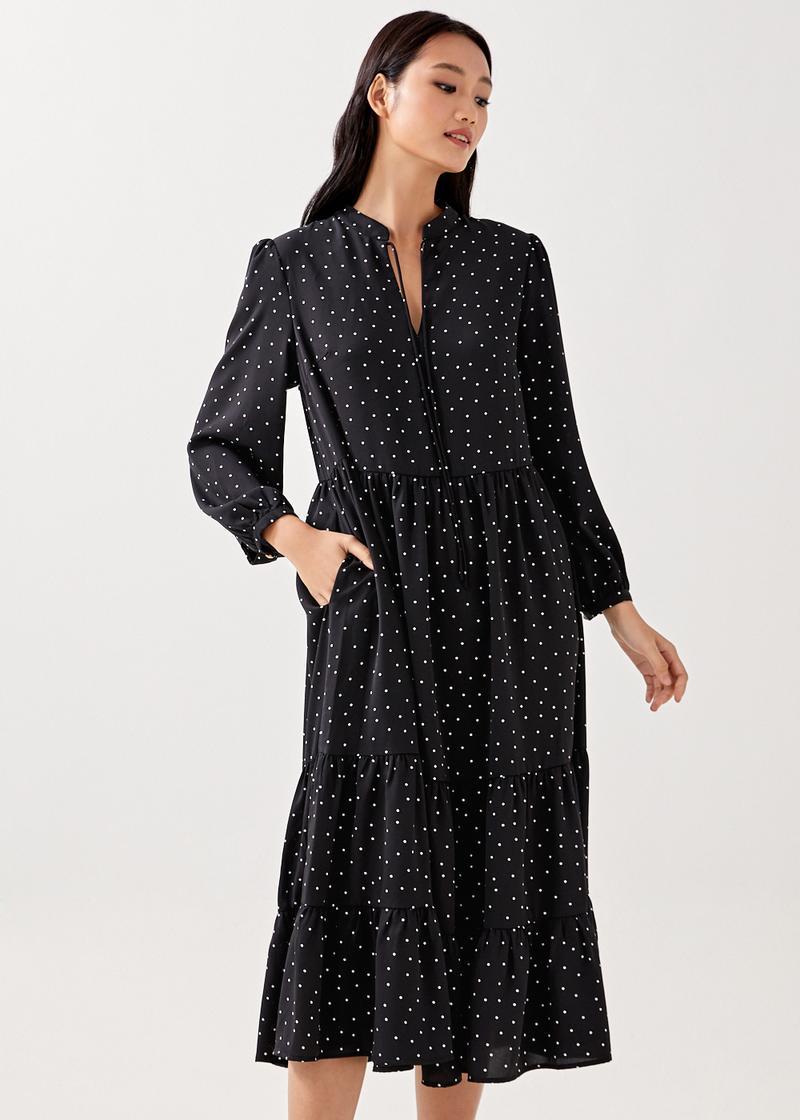 Fierra Polka Dot Tiered Dress