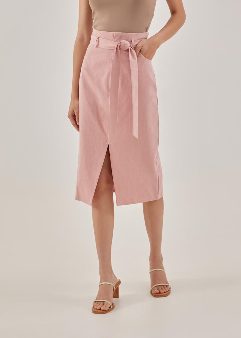 Naia Cotton Twill Pencil Skirt