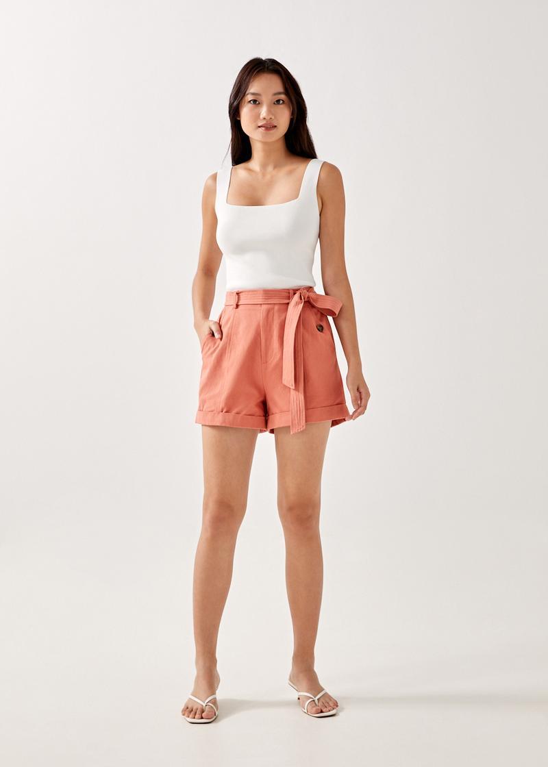 Shea Belted Cuffed Shorts