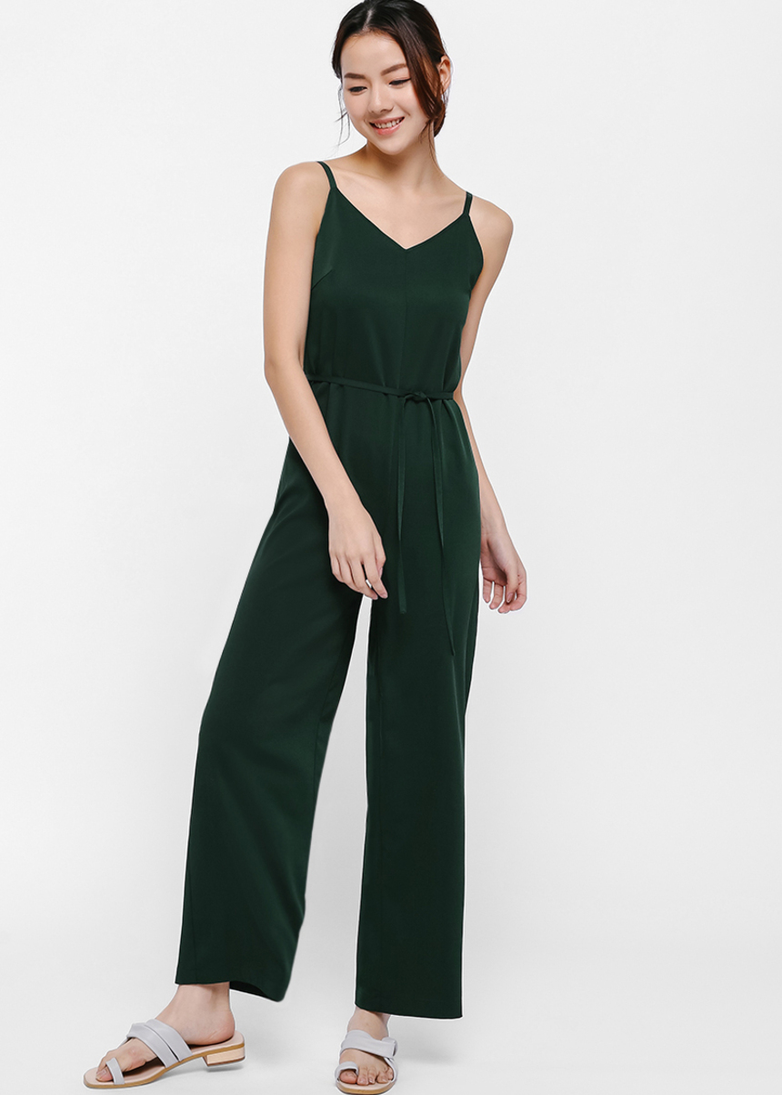 Ryna V-neck Camisole Jumpsuit-338-XL