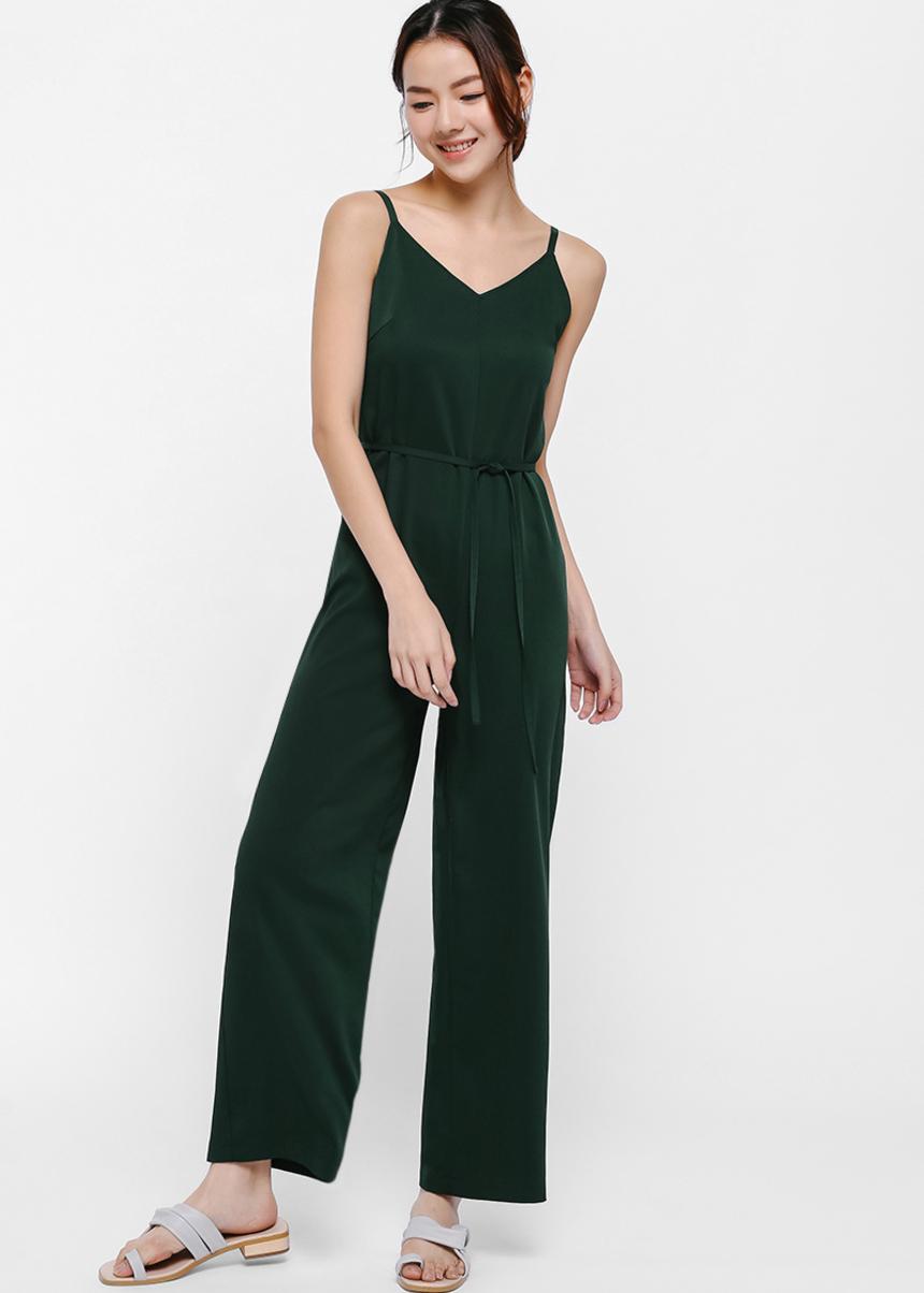 Ryna V-neck Camisole Jumpsuit-338-XS