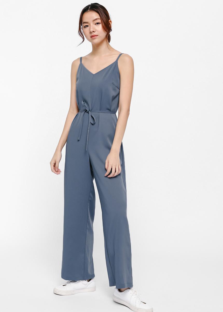 Ryna V-neck Camisole Jumpsuit-347-L