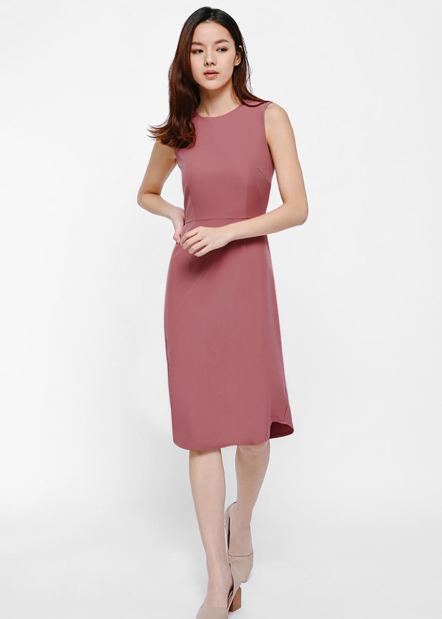 Phoebe Midi Dress-090-S