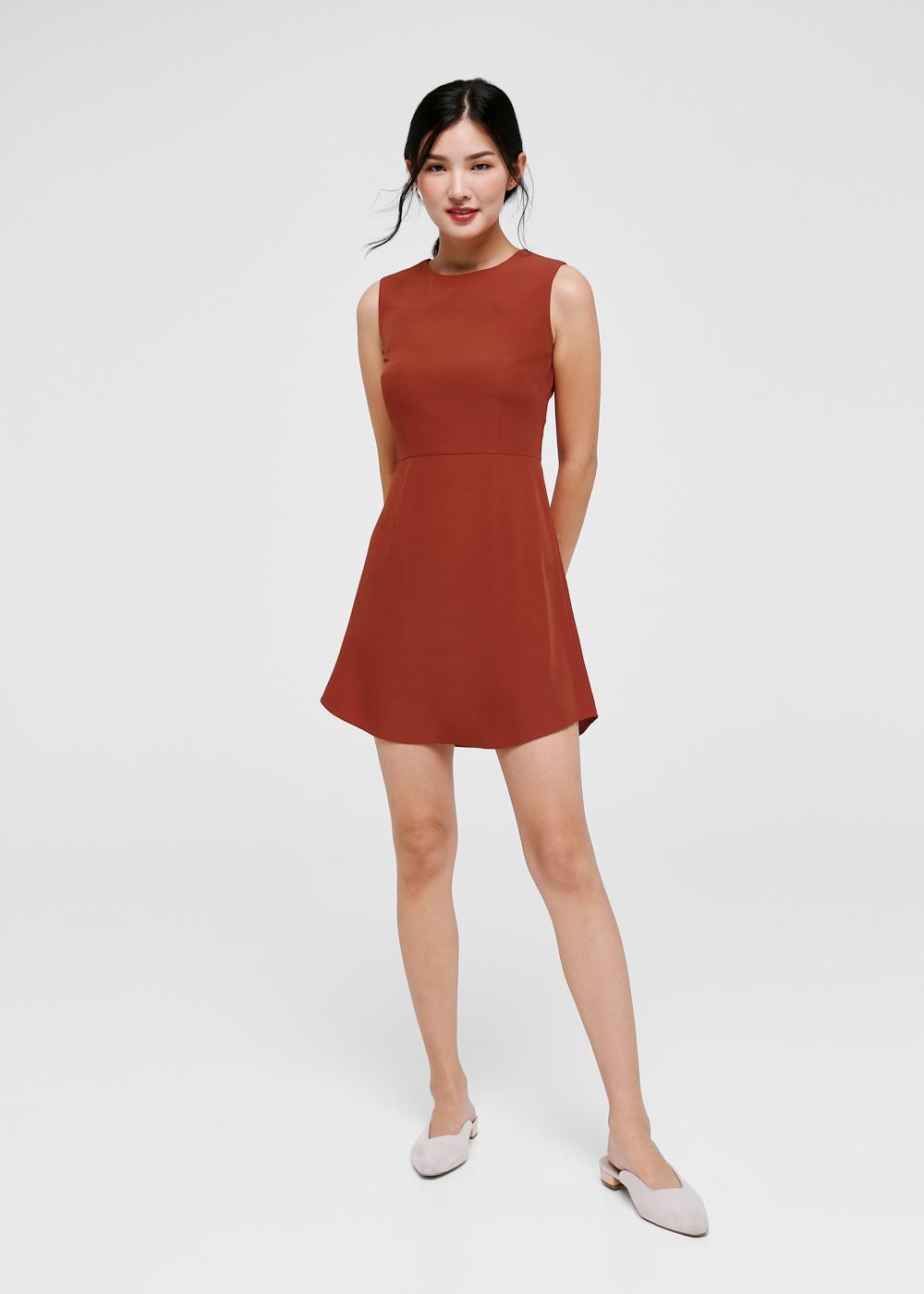 Desiree Curved Hem A-line Dress-344-XS